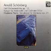 シェーンベルク: 5つの管弦楽曲、チェロ協奏曲、現代詩篇、管弦楽のための変奏曲