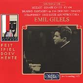 Emil Gilels - Recital :Mozart/Brahms/Debussy/Stravinsky