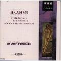 ブラームス:交響曲第2番/悲劇的序曲/大学祝典序曲@プリッチャード/BBCso.