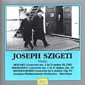 Mozart, Prokofiev, Mendelssohn - Violin Concertos / Beecham, Szigeti et al