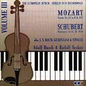 European Busch-Serkin Duo Recordings Vol 3 - Vivaldi, et al