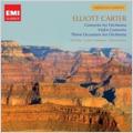 Elliott Carter: Three Occasions, Violin Concerto, Concerto for Orchestra (1991) / Ole Bohn(vn), Oliver Knussen(cond), London Sinfonietta