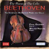 BEETHOVEN:COMPLETE CELLO SONATAS:PAUL OLEFSKY(vc)/WALTER HAUTZIG(p)