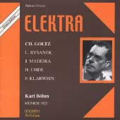 Golden - Strauss: Elektra / Bohm, Madeira, Goltz, Uhde, etc