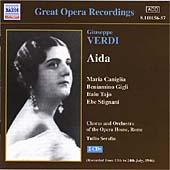 Verdi: Aida / Serafin, Caniglia, Gigli, Stignani, Bechi et al
