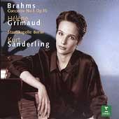Brahms: Piano Concerto no 1 / Grimaud, Sanderling