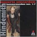 Hindemith: Kammermusiken nos 1-7 / Concerto Amsterdam