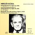 Rozsa: String Quartets, Rhapsody for Cello / Pro Arte Qt