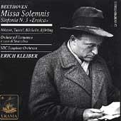 Beethoven: Missa Solemnis, Symphony no 3 / Kleiber, et al