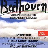 Beethoven: Violin Concerto, Romances / Suk, Smetacek, et al