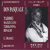 Donizetti: Don Pasquale / Franci, Taddei, Mazzucato, et al