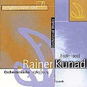 Rainer Kunad: Orchesterweke(1969-75) / Masur, Dresden, et al
