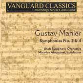 Mahler: Symphony no 2 & 4 / Abravanel, Utah Symphony