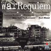 Britten: War Requiem / Masur, Vaness, Hadley, Hampson, et al
