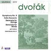 Dvorak: Symphony no 9, Cello Concerto, etc / Noras, Inbal