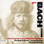 Bach: Matthaues-Passion / Spering, Das Neue Orchester