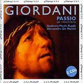 Giordani: Passio / de Marchi, Academia Montis Regalis