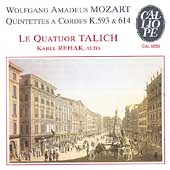Mozart: String Quintets K 593 & K 614/ Rehak, Talich Quartet