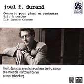 Durand: Piano Concerto, String Trio, etc / Intercontemporain