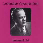 Lebendige Vergangenheit - Emanuel List
