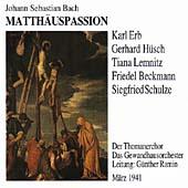 Bach: St. Matthew Passion / Karl Erb(T), Gerhard Husch(Br), Gunter Ramin(cond), Leipzig Gewandhaus Orchestra, etc