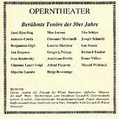 Operntheater - Beruehmte Tenoere der 30er Jahre