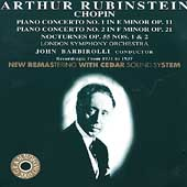 Arthur Rubinstein Plays Chopin / Barbirolli, London SO