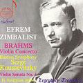 Brahms: Violin Concerto, etc / Zimbalist, Koussevitzky