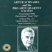 Schubert: String Quintet, Piano Quintet / Schnabel, Pro Arte
