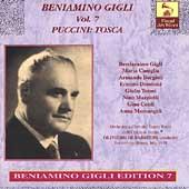 Vocal Archives - Beniamino Gigli Vol 7 - Puccini: Tosca