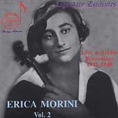 Legendary Treasures - Erica Morini Vol 2 - Live & Studio