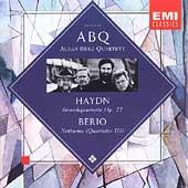 Haydn: Quartets Op 77;  Berio: Notturno / Alban Berg Qt
