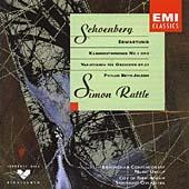 Schoenberg: Erwartung, Kammersymphonie no 1, etc / Simon Rattle et al