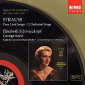 R.Strauss: Four Last Songs, Orchestral Songs (9/1965 & 3/1968) / Elisabeth Schwarzkopf(S), George Szell(cond), Berlin Radio Symphony Orchestra, London Symphony Orchestra