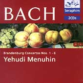Bach: Brandenburg Concertos Nos 1-6 / Menuhin, Bath Festival Orchestra