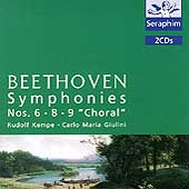 """Beethoven: Symphonies nos 6, 8, 9 """"Choral"""" / Kempe, Giulini"""