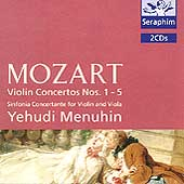 Mozart: Violin Concertos nos 1-5 / Menuhin, Barshai