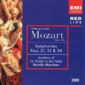 Mozart: Symphonies 31, 33, 34 & etc / Neville Marriner, ASMF
