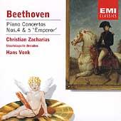 Beethoven: Piano Concertos no 4 & 5 / Zacharias, Vonk, et al