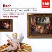 Bach: Brandenburg Concertos no 1-4 / Marriner,  ASMF