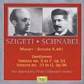 Szigeti & Schnabel - Mozart: Sonata K 481;  Beethoven