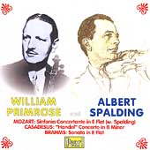 William Primrose, Albert Spalding- Mozart, Casadesus, Brahms