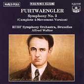 Furtwaengler: Symphony no 3 / Walter, RTBF Symphony