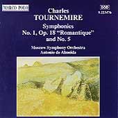 Tournemire: Symphonies no 1 & 5 / Antonio de Almeida