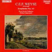 Weyse: Symphonies no 4 & 5 / Schonwandt, Royal Danish