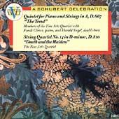 """SCHUBERT:PIANO QUINTET D.667 """"DIE FORELLE""""/STRING QUARTET NO.14 """"DEATH & THE MAIDEN"""":THE FINE ARTS QUARTET/HAROLD SIEGEL(cb)/FRANK GLAZER(p)"""