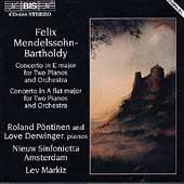 Mendelssohn: Concertos for 2 Pianos / Poentinen, Derwinger