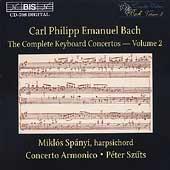 C.P.E. Bach: Complete Keyboard Concertos Vol 2 / Miklos Spanyi
