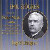 Sjoegren: Piano Music Vol 1 / Ingrid Lindgren