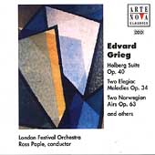Grieg:Holberg Suite op.40/2 Elegiac Melodies op.34/etc(1995-7):Ross Pople(cond)/London Festival Orchestra